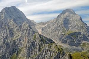 Blick vom Schachen-Pavillon auf Hochblassen und Alpspitze