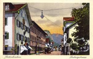 Ludwigstraße in Partenkirchen AK ungel um 1900 (Sammlung HK)