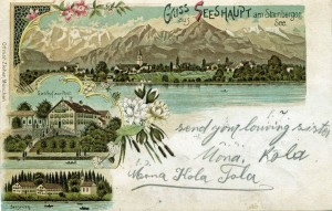 Seeshaupt - Litho-AK gel 1898 (Sammlung: HK)