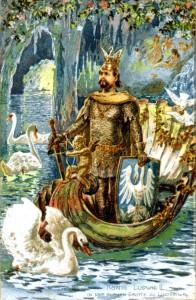 Ludwig als Lohengrin in der Grotte (Sammlung H.K.)