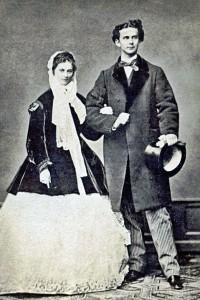 Verlobungsfoto von 1867 (Sammlung: HK)