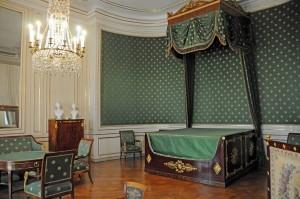 """Ludwigs Geburtszimmer: der """"Grüne Salon"""" in Nymphenburg (Foto: H.K.)"""