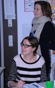 Frau Bruniecki und Frau Sternberg im Januar 2011 zu Besuch am Staffelsee-Gymnasium