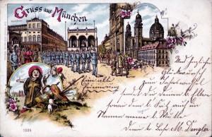 Die Lithographie aus dem Jahr 1897 zeigt die Residenz noch mit Wintergarten (Sammlung HK)