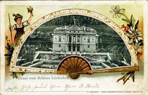 Linderhof auf einer Präge-Ansichtskarte aus dem Jahr 1904 (Sammlung HK)