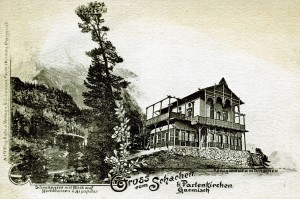 Das Königshaus am Schachen um 1890 - AK gel 1890 (Sammlung HK)