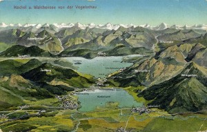 Kochel und Walchensee AK gel 1913 (Sammlung HK)