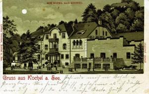 Mondschein-Lithographie gel 1900 (Sammlung HK)